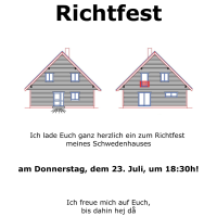 21. Tag: Richtfest