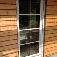 22. Tag: Mit dem Fenstereinbau wurde begonnen