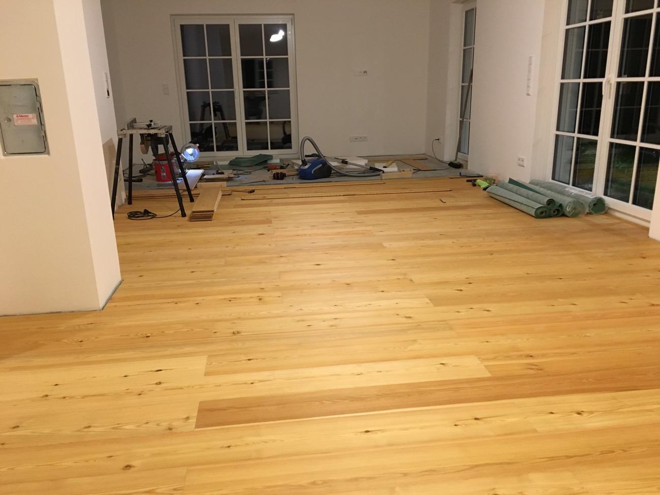 Parkett in Küche und Esszimmer ist fertig – Bautagebuch über ...